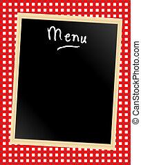 menu, duży parasol, deska