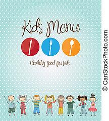 menu, dzieciaki