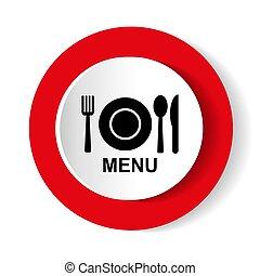 menu, icon., wektor
