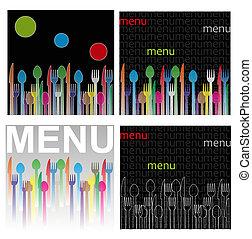 menu, ilustracja
