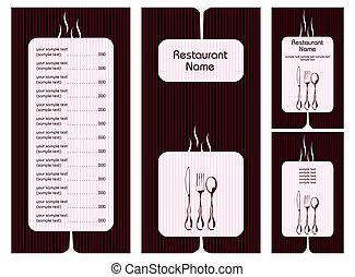 menu, karta, szablon