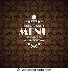 menu, kawiarnia, osłona, szablon, restauracja