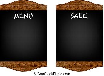 menu, komplet, deska, restauracja