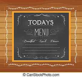menu, pisemny, chalkboard