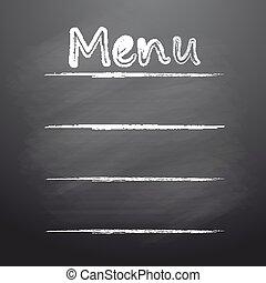 menu, pisemny, tablica