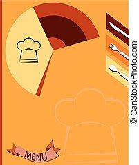 menu, projektować, karta, szablon