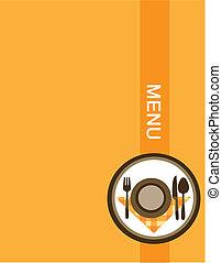 menu, projektować, restauracja