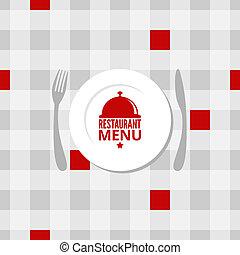 menu, projektować, tło, restauracja