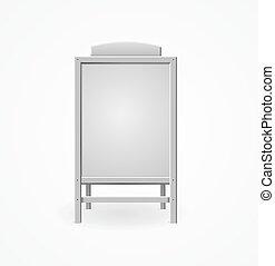 menu, realistyczny, wektor, szablon, czysty, board., biały