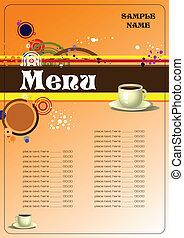 menu, restauracja, (cafe)