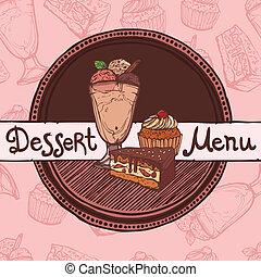menu, rys, szablon, restauracja