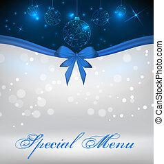 menu, szczególny, boże narodzenie, tło