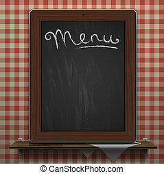 menu, tło, tablica