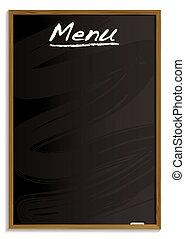 menu, tablica