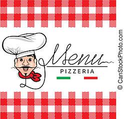 menu, włoski, restauracja