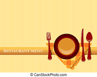 menu, wektor, projektować, restauracja