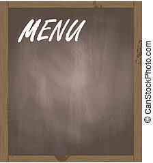 menu, wektor, tło, tablica