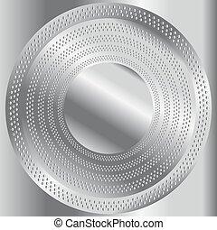 metal, okólnik, oczyszczony szczotką, struktura