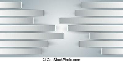 metal-paneled, prospekt, ściany