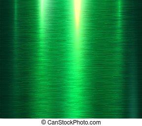 metal, zielone tło, struktura