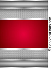 metaliczny, tło, czysty, szablon, czerwony, struktura