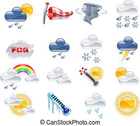meteorologiczna prognoza, ikony