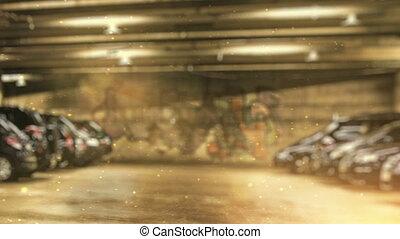 metro, drużyna, tancerze, parking