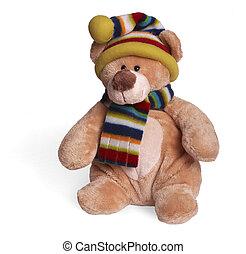 miękki, niedźwiedź, teddy