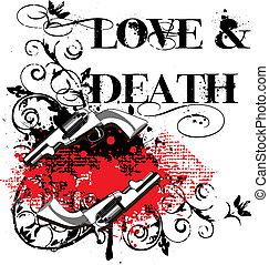 miłość, &, śmierć
