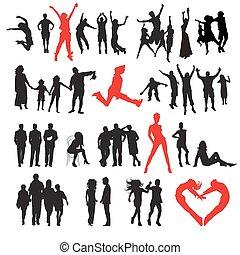 miłość, fason, rodzina, handlowy, sport, sylwetka, people:
