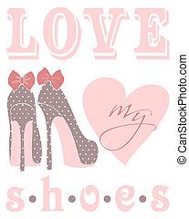 miłość, mój, obuwie