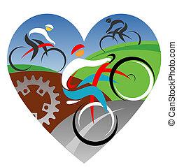 miłość, my, kolarstwo