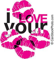 miłość, pocałunki, twój