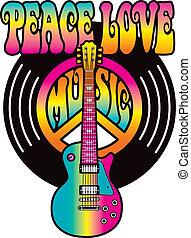 miłość, pokój, muzyka, winyl
