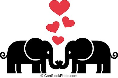 miłość, słonie