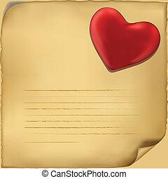 miłość, tło, ilustracja, litera, icon., biały