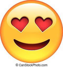 miłość, uśmiech, emoticon