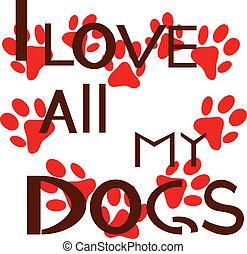 miłość, wszystko, psy, mój