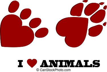 miłość, zwierzę