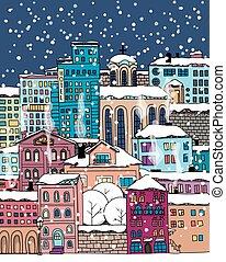 miasto, doodle