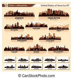 miasto skyline, set., 10, sylwetka, usa, #7