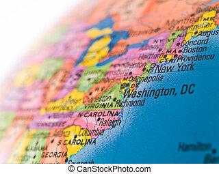 miasto, waszyngton, globalny, -, ognisko, dc, studia