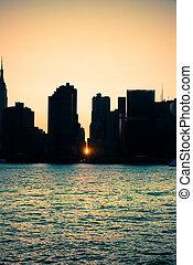 miasto, york, nowy