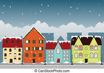 miasto, zima
