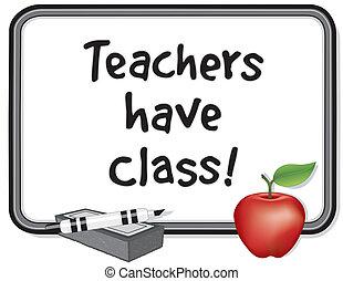 mieć, nauczycielstwo, class!