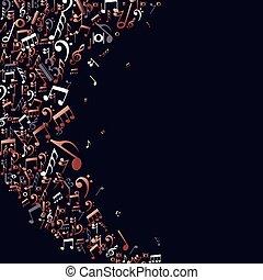 miedź, notatki, pojęcie, muzyka, tło