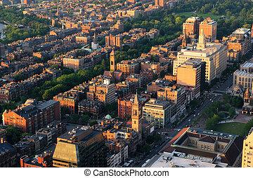 miejski, antena, prospekt miasta