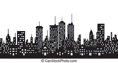 miejski, miasto zabudowania