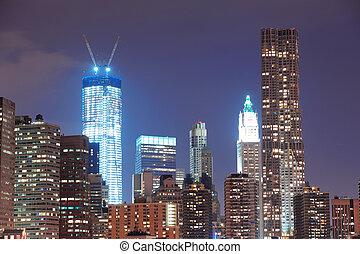 miejski skyline, miasto