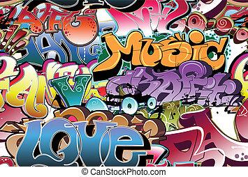 miejskie graffiti, seamless, tło